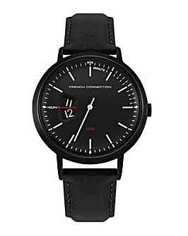 Mens French Connection Round Dial  Strap Watch