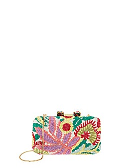 Monsoon Richmond Raffia Box Clutch