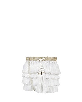 Monsoon Freya Fringed Drawstring Pouch