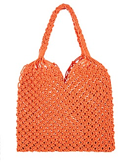 Monsoon Marlow Macrame Shopper