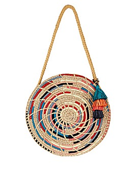 Monsoon Rayna Rainbow Straw Bag