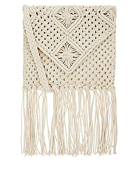 Monsoon Maple Macrame Fringed X Body