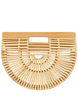 Monsoon Warwick Wooden Slat Bag