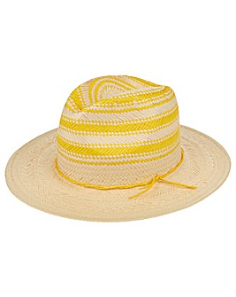 Accessorize Contrast Stripe Crown Fedora
