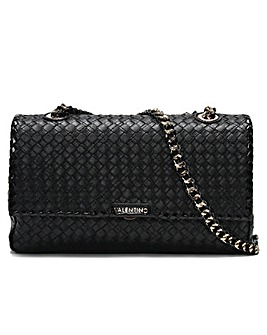 Mario Valentino Woody Woven Shoulder Bag