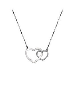 Hot Diamonds Striking Heart Necklace