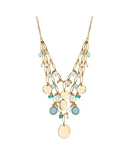 Mood Abalone Cluster Necklace