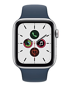 Apple Watch SE Cellular 44mm Space Grey Aluminium Case with Ab Blue Sport Band