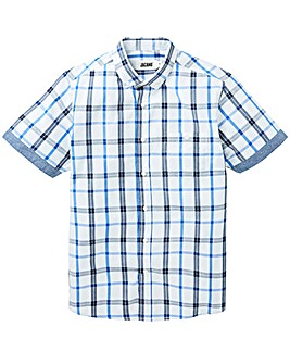 Jacamo S/S Pier Check Shirt Long
