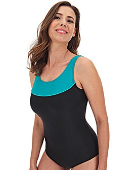 Panelled Top Sports Swimsuit