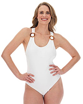 Recycled Textured Racer Back Swimsuit