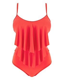 MAGISCULPT Tiered Ruffle Swimsuit