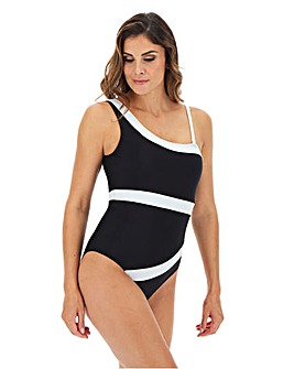 One Shoulder Pannelled Swimsuit
