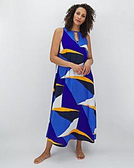 Joanna Hope Geo Print Maxi Beach Dress