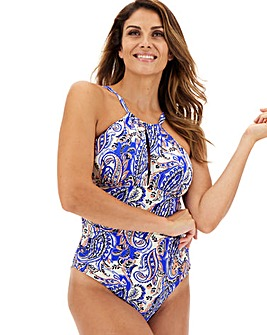 High Neck Keyhole Swimsuit