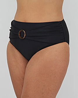 High Waist Bikini Brief With Trim Detail