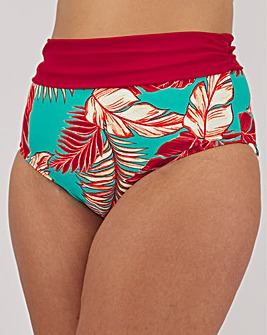 High Waist Gathered Bikini Brief