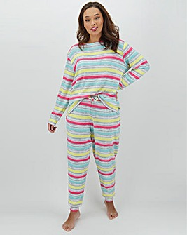 Pretty Lounge Stripe Print Lounge Set