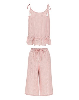 Pretty Secrets Woven Cami and Culotte Set