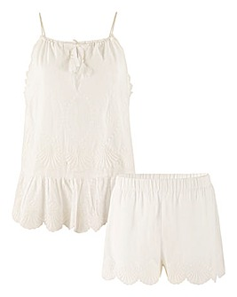 Pretty Secrets Broderie Cami and Short Set