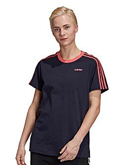 adidas 3 Stripe Boyfriend T-Shirt