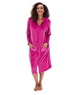 Pretty Secrets Velour Zip Gown