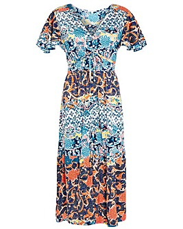 Monsoon Sufja Jersey Printed Tea Dress