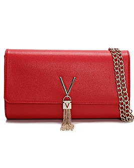 Valentino Bags Divina Pebbled Clutch