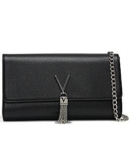 Valentino Bags Divina Pebbled Clutch Bag