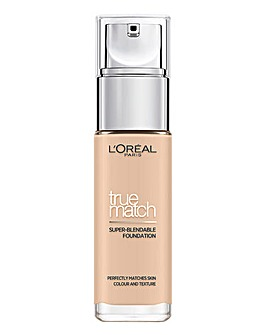 L'Oreal True Match Liquid Foundation With Hyaluronic Acid 1.N Ivory