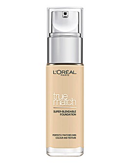 L'Oreal True Match Liquid Foundation With Hyaluronic Acid 1.W Golden Ivory