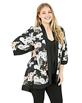 Mela London Curve Black Floral Kimono