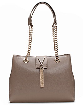 Valentino Bags Divina Pebbled Tote Bag