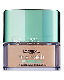 L'Oreal Paris True Match Minerals Powder Foundation 1R Ivory Rose