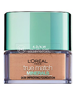 L'Oreal Paris True Match Minerals Powder Foundation 4W Golden Natural