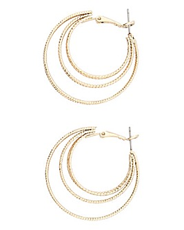 Facet Multi Hoop Earrings