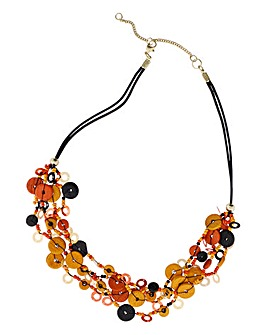Button Station Multithread Necklace