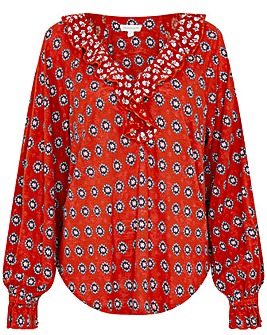 Monsoon Annelisse Printed Jersey Top