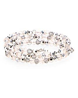 Facet Bead Coil Bracelet