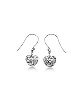 Lily & Lotty Sadie Silver Heart Earrings