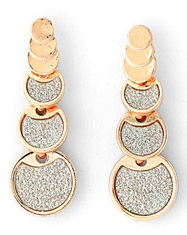 Rose Gold Glitter Drop Earrings