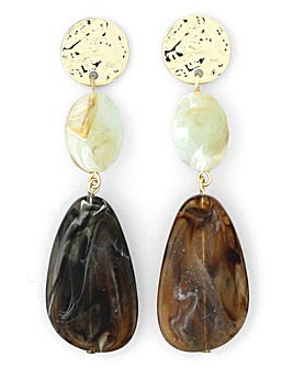 Sage Pebble Drop Earrings