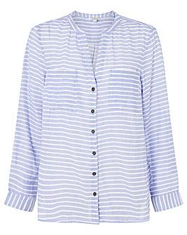 Monsoon Stacy Stripe Linen Top