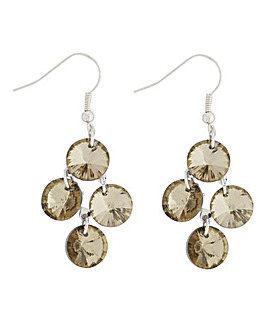 Facet Mini Chandelier Sage Earrings