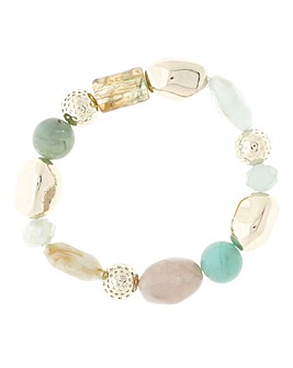 Sage Stretch Pebble Bracelet