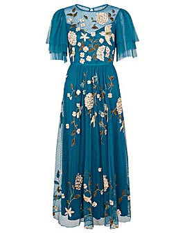 Monsoon Bailee Embroidered Bird Dress