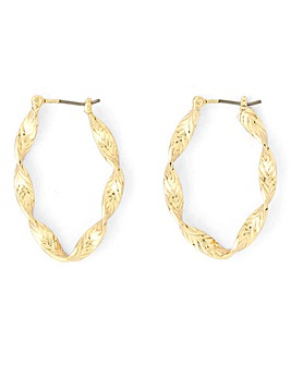 Textured Twisted Hoop Earrings