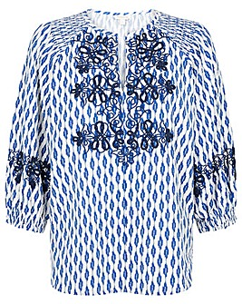 Monsoon EMBROIDERED IKAT TOP
