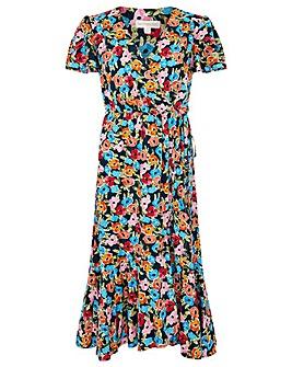 Monsoon Tallulah Floral Print Wrap Dress