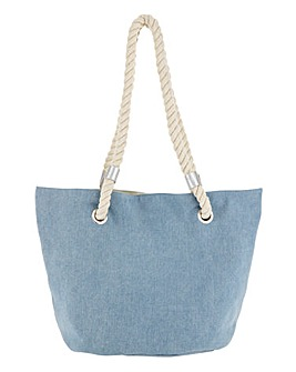 Denim Rope Handle Tote